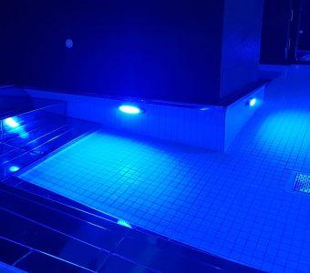 Iluminación acuática Balneario en Orio (Guipuzcoa) hotel villa antilla