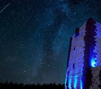 iluminación exterior torre del conde