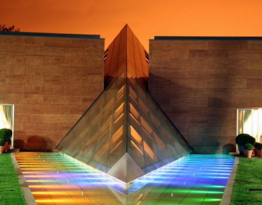 iluminación jardin moderna